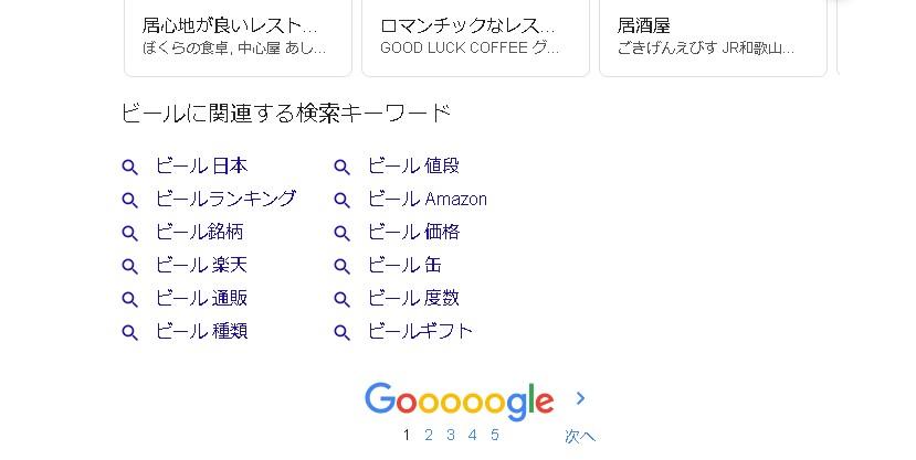 Google 関連キーワード