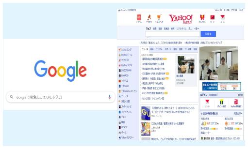 グーグル&YAHOO!